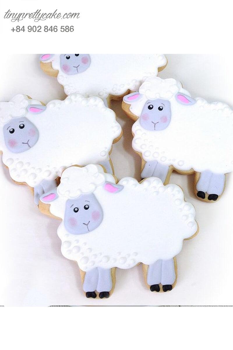 bánh cookie con cừu pastel