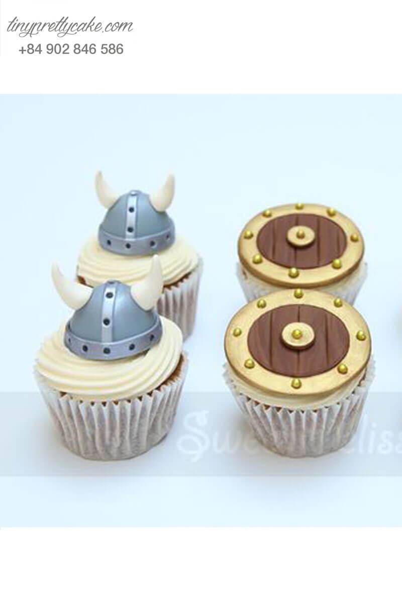Set 6 Cupcake vũ khí ngộ nghĩnh của hoàng tử mừng sinh nhật các bé trai