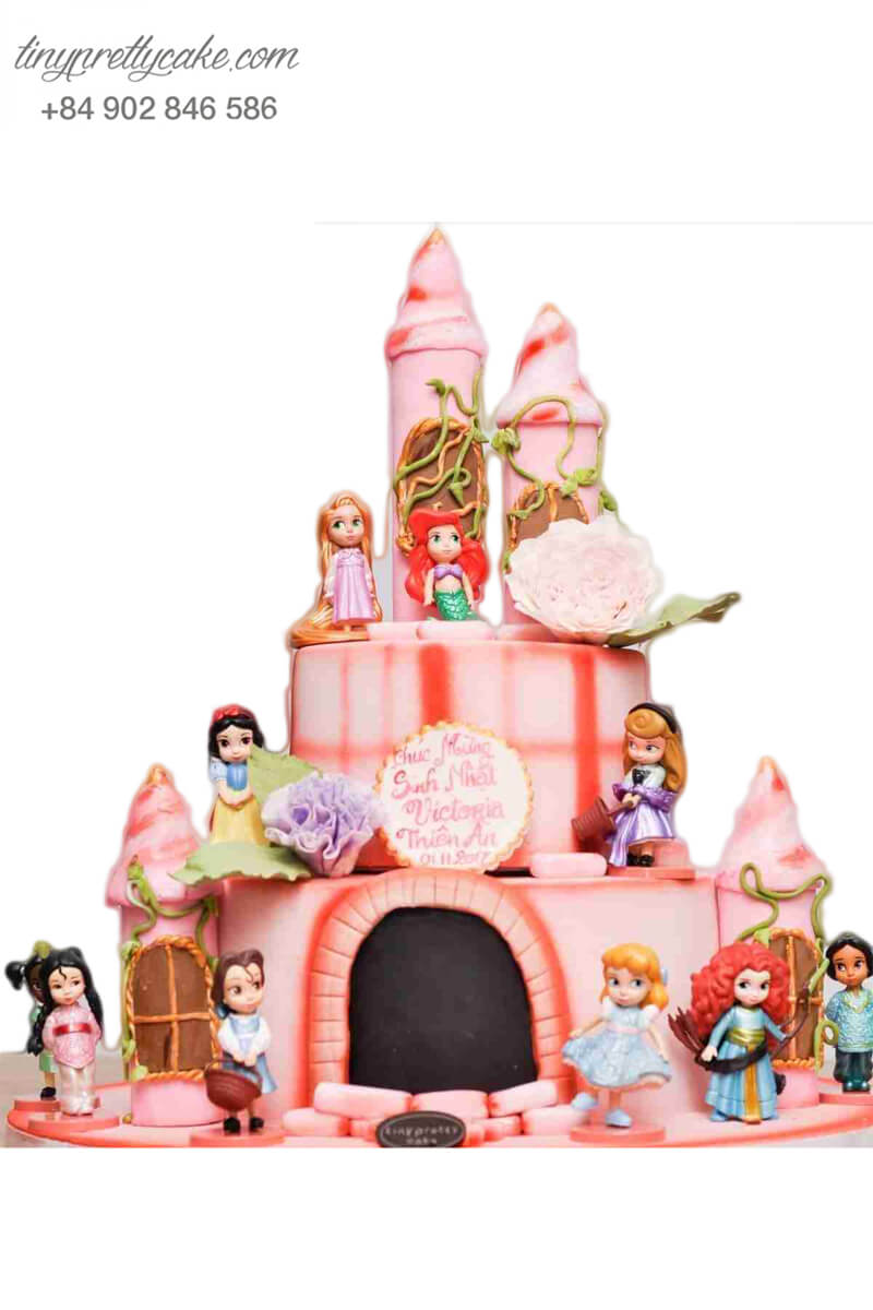 Bánh sinh nhật 2 tầng lâu đài