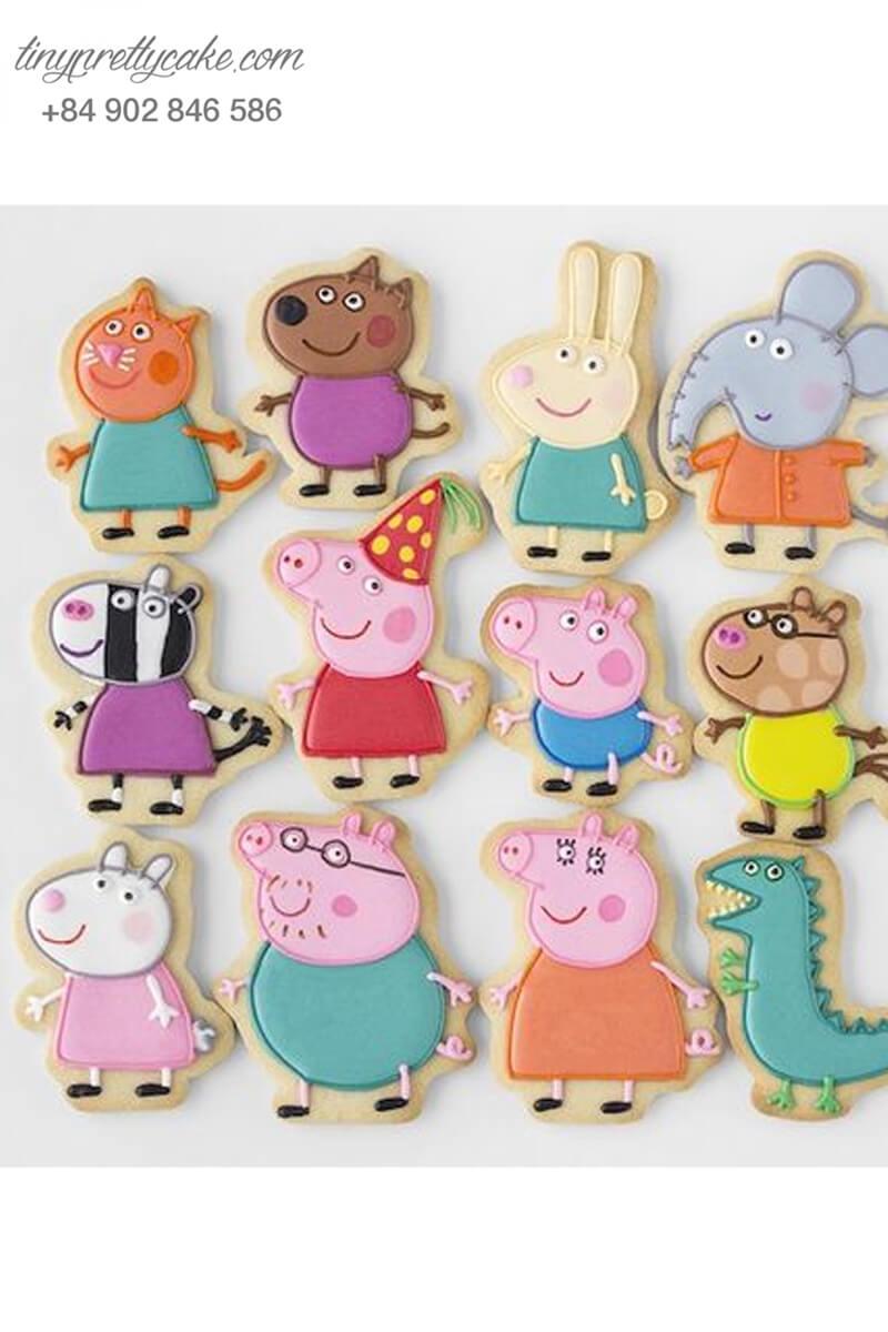 bánh cookie gia đình heo Peppa