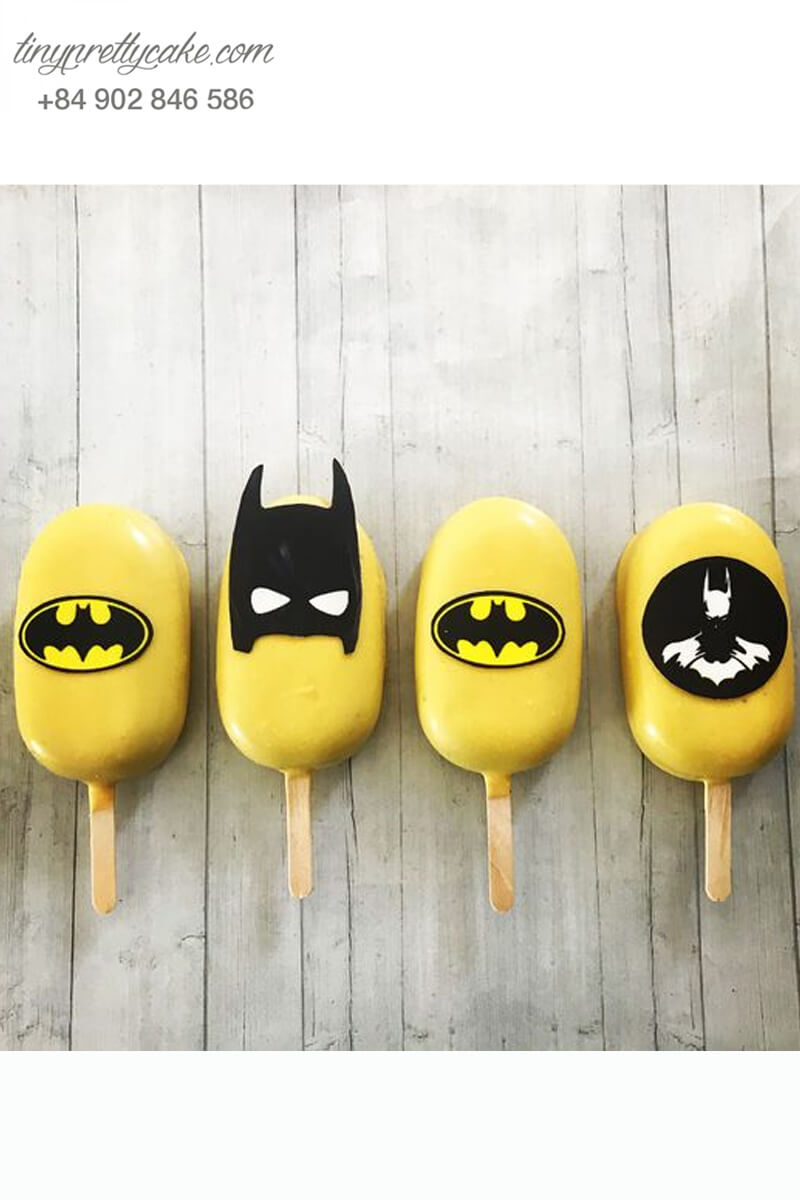 cake pop hình Batman