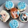 Set 6 cupcake Elsa và những người bạn siêu dễ thương mừng sinh nhật các bé gái