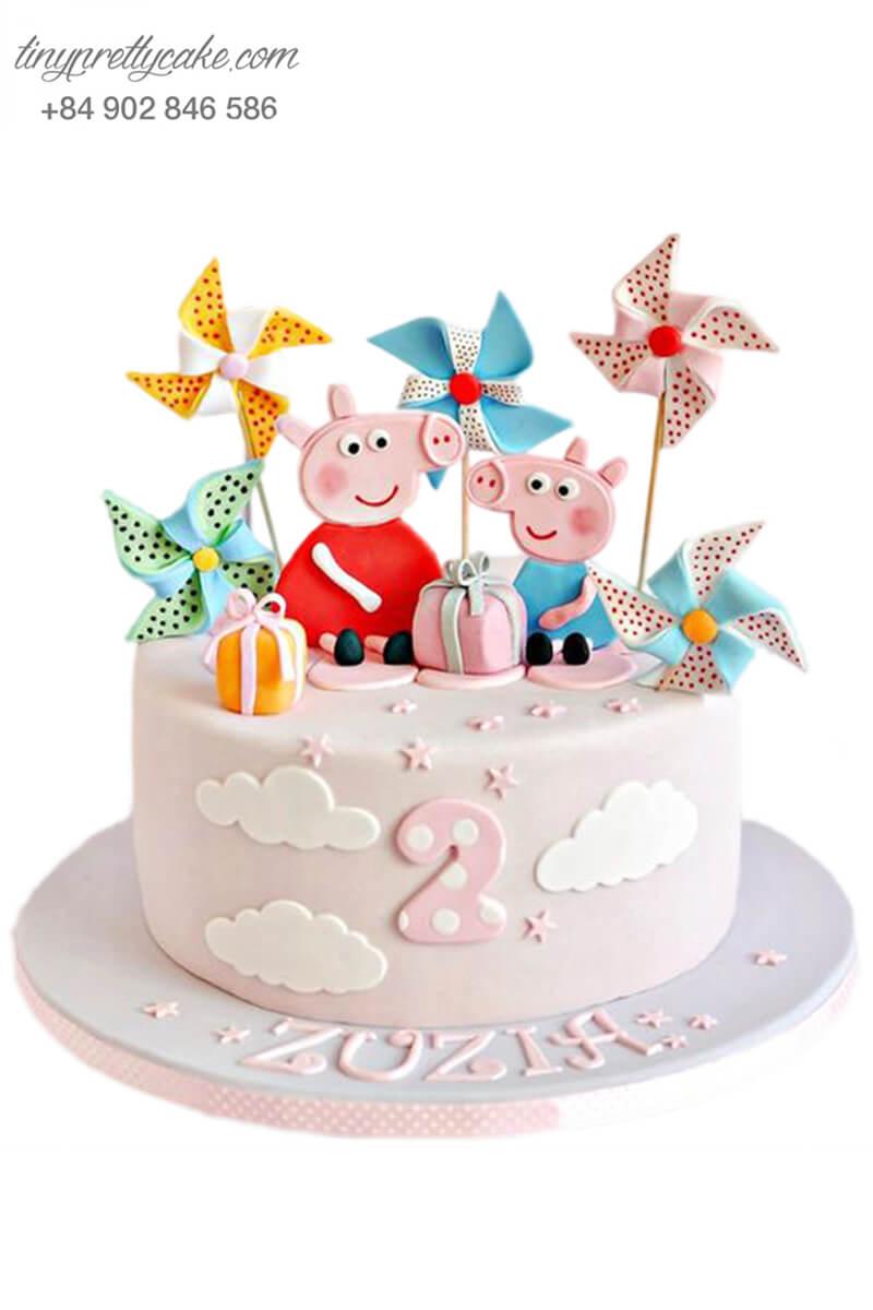 bánh sinh nhật lợn Peppa Pig đẹp