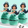 Bánh cupcake công chúa Jasmine xinh đẹp mừng sinh nhật các bé gái