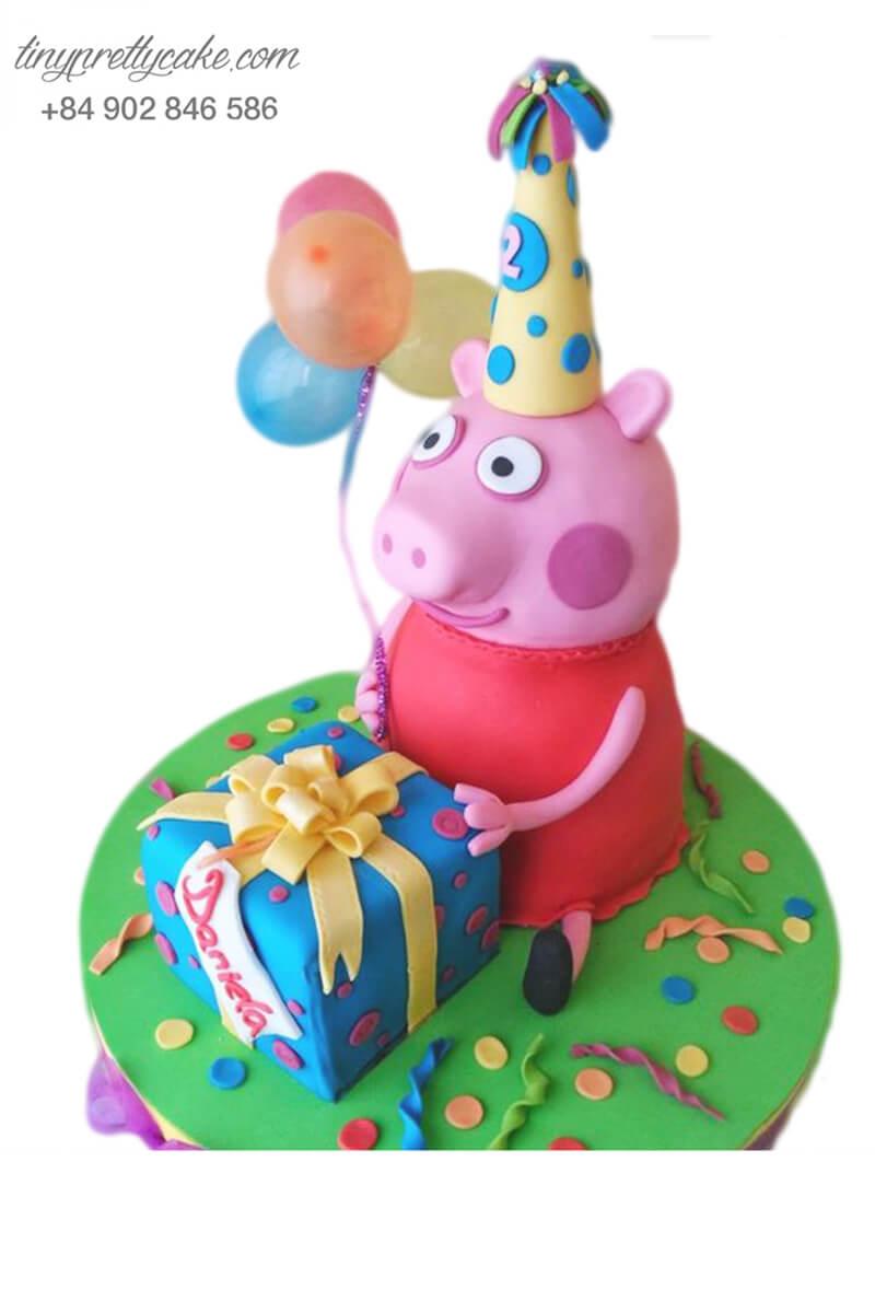 bánh sinh nhật lợn Peppa Pig