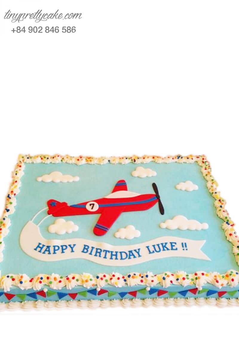 bánh sinh nhật máy bay dễ thương