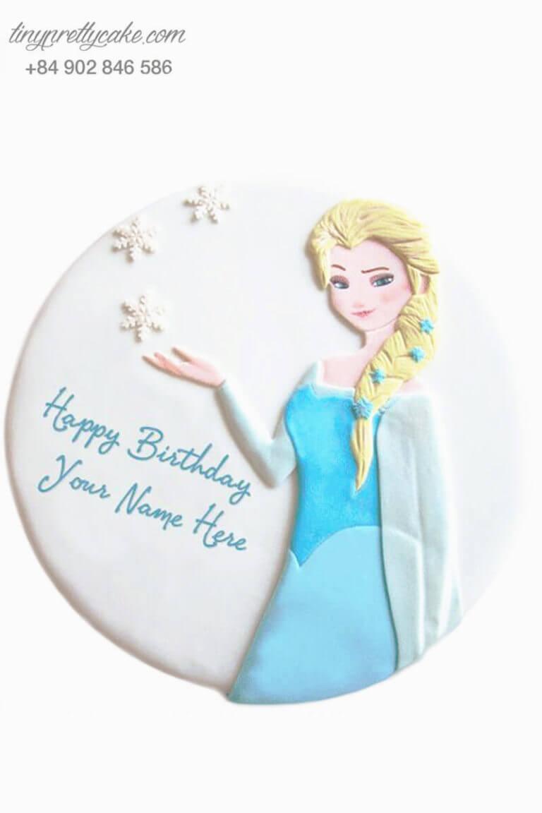 bánh sinh nhật hình công chúa tuyết Elsa