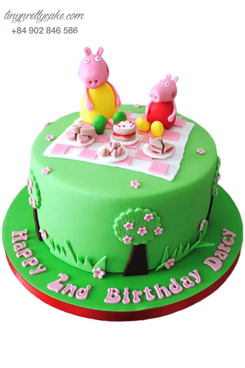 bánh kem sinh nhật hình heo Peppa