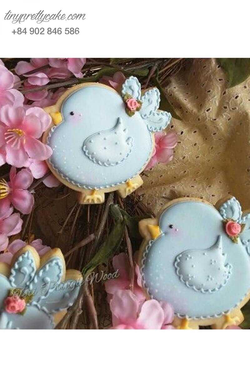 bánh quy vẽ hình con gà béo dễ thương