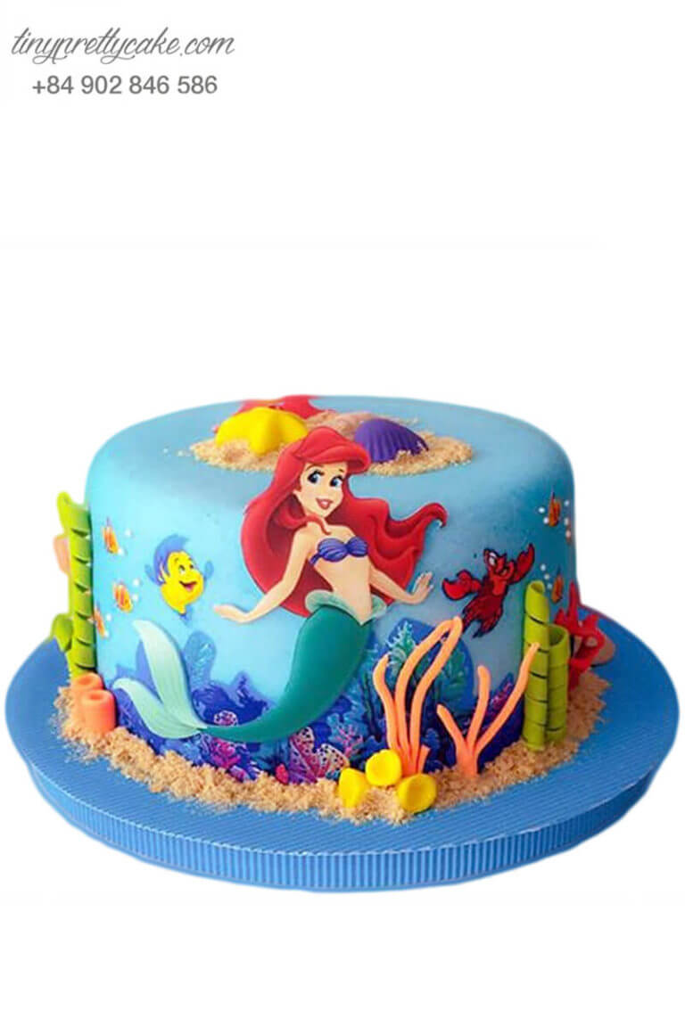 bánh sinh nhật nàng tiên cá Ariel