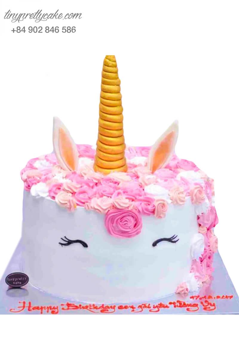 bánh sinh nhật Unicorn hồng điệu đà