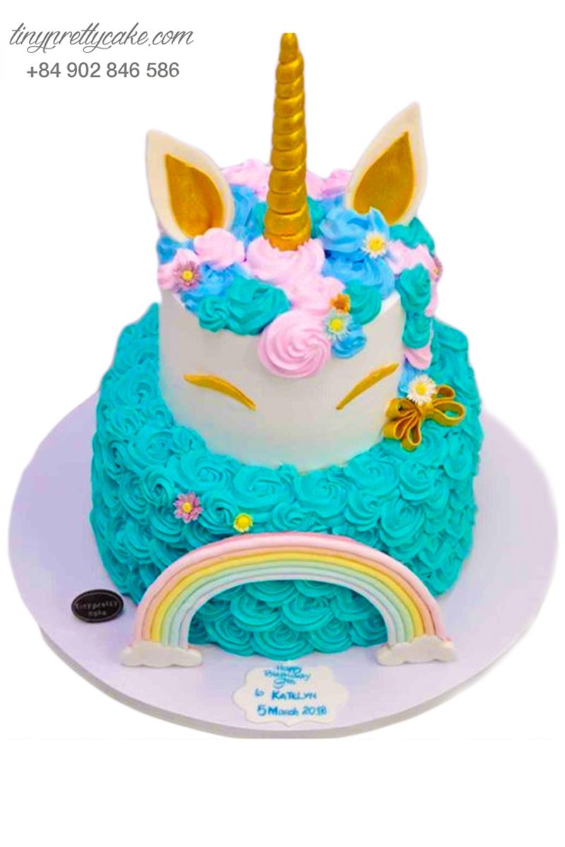 bánh sinh nhật 2 tầng Pony dễ thương