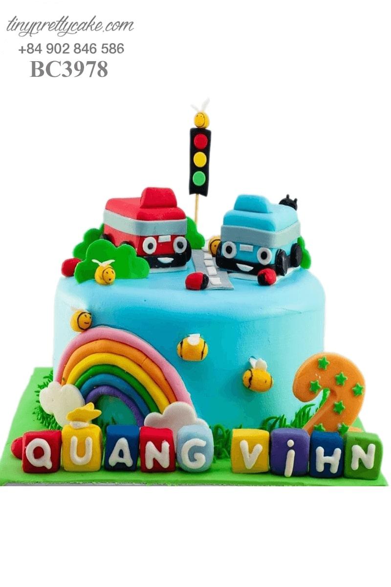 bánh sinh nhật hình ô tô ngộ nghĩnh