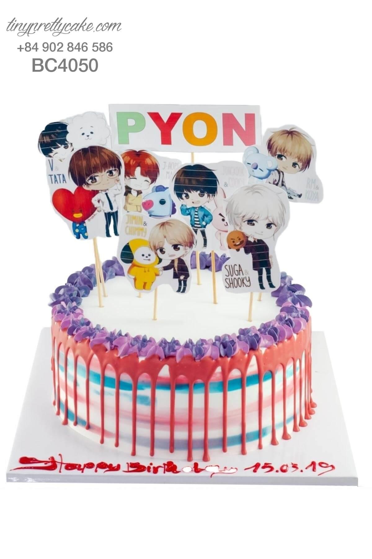 mua bánh sinh nhật BTS