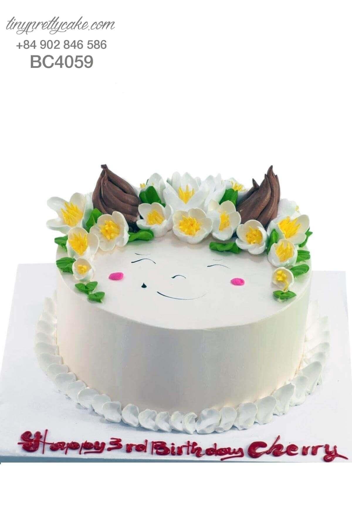 bánh sinh nhật hoa cho bé gái