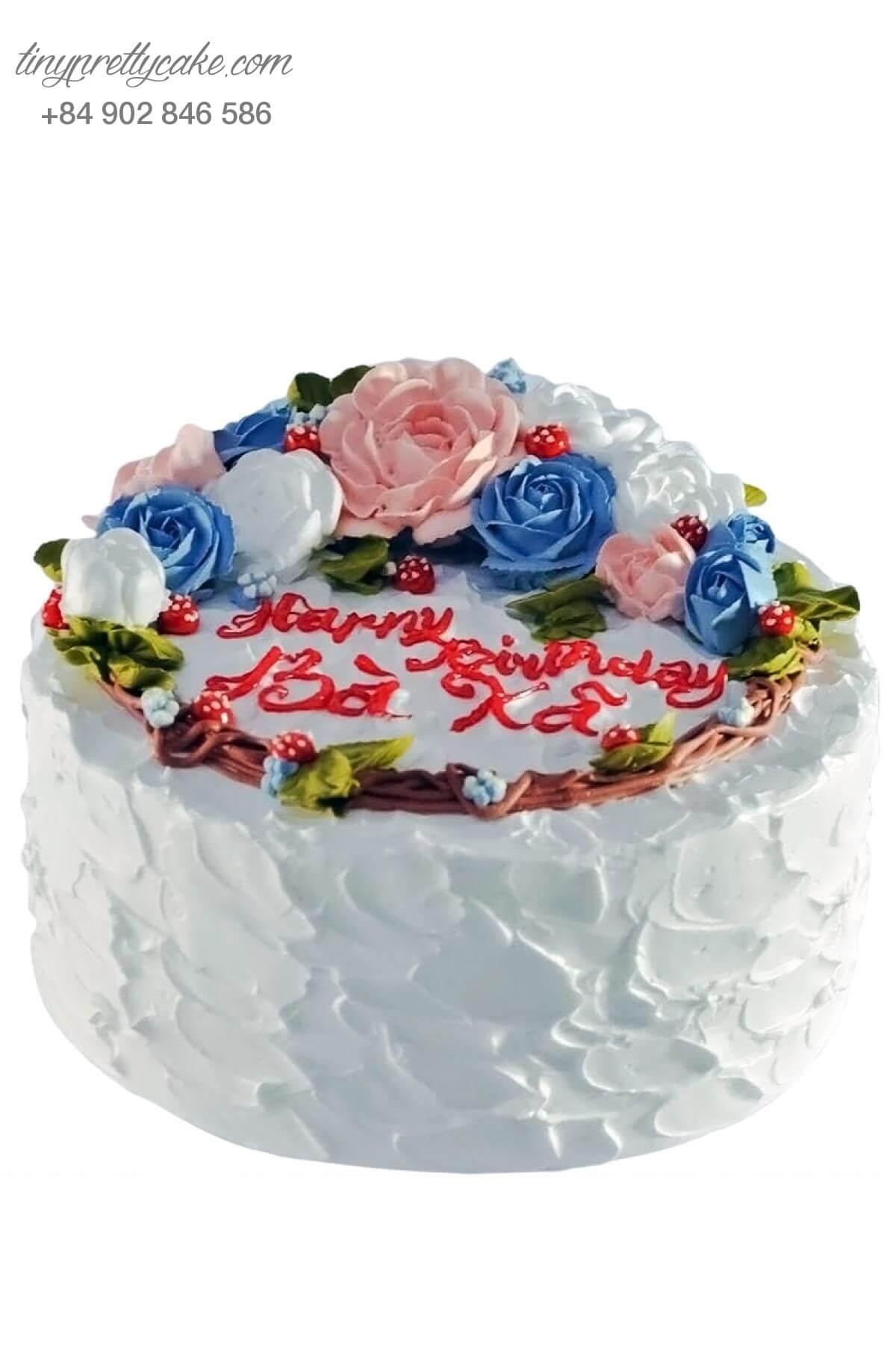 bánh sinh nhật kem bơ bà xã