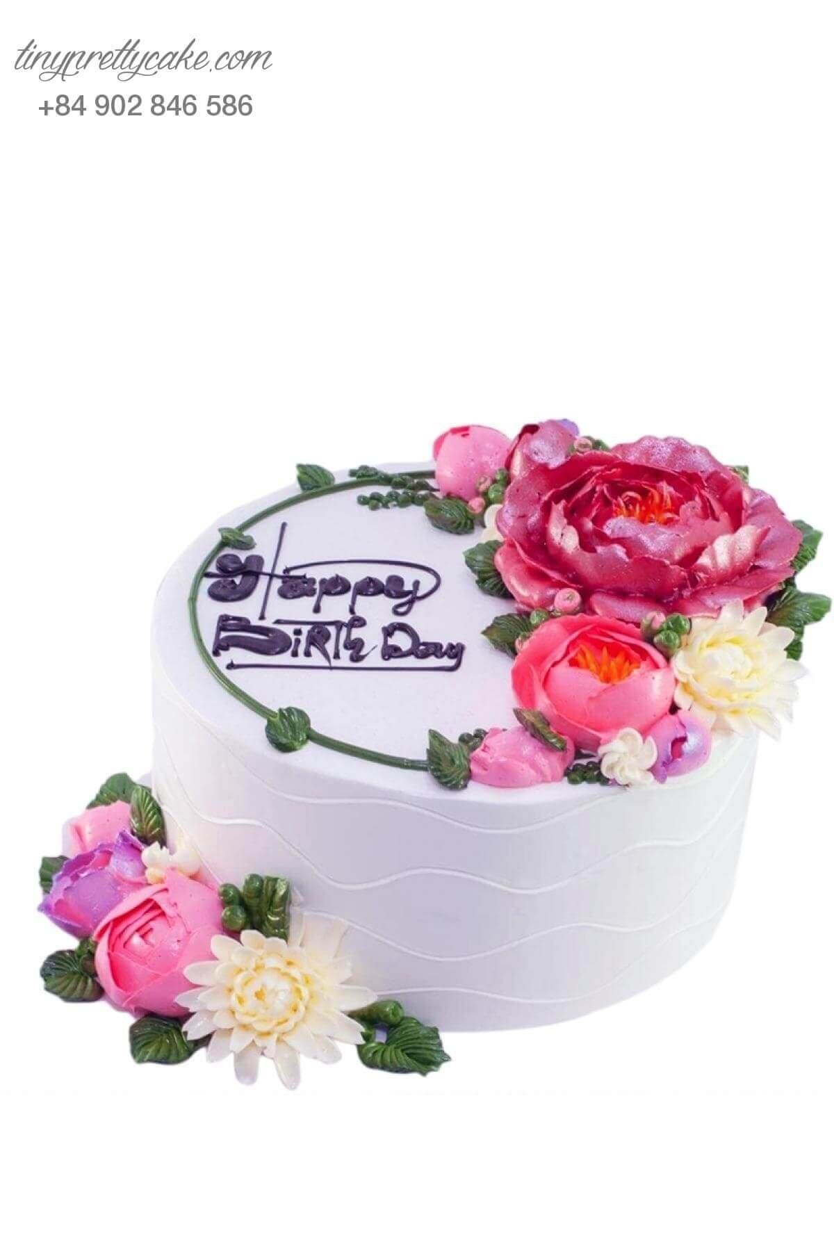 Bánh sinh nhật hoa ấn tượng