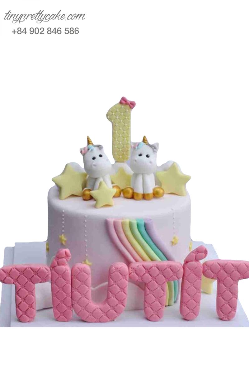 bánh sinh nhật Unicorn cho bé gái
