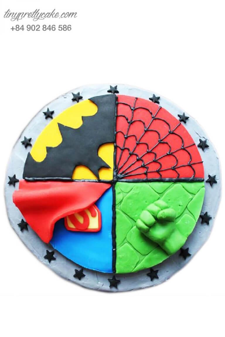 bánh sinh nhật 4 siêu anh hùng