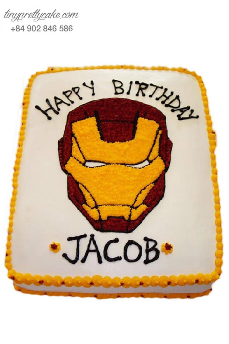 bánh sinh nhật siêu anh hùng Iron Man