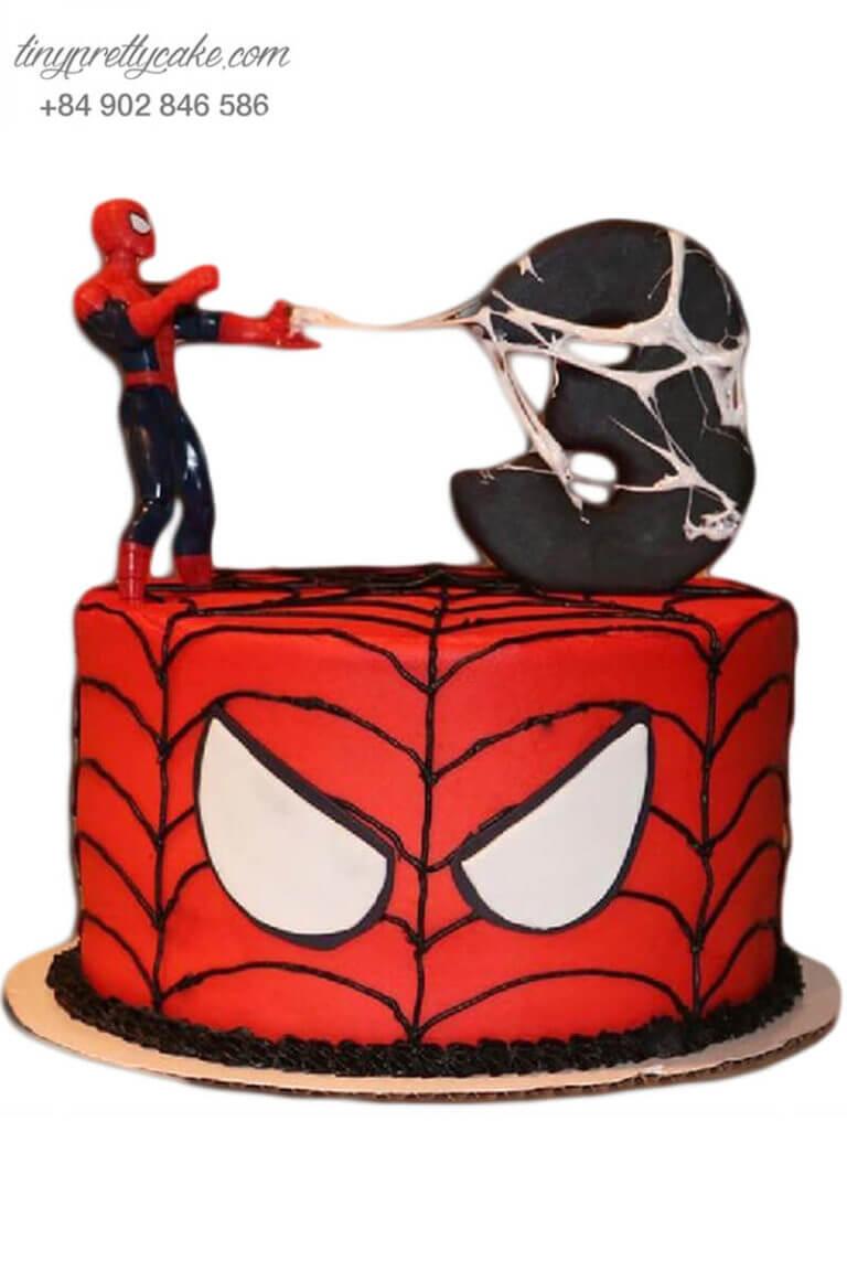 bánh sinh nhật chủ đề người nhện