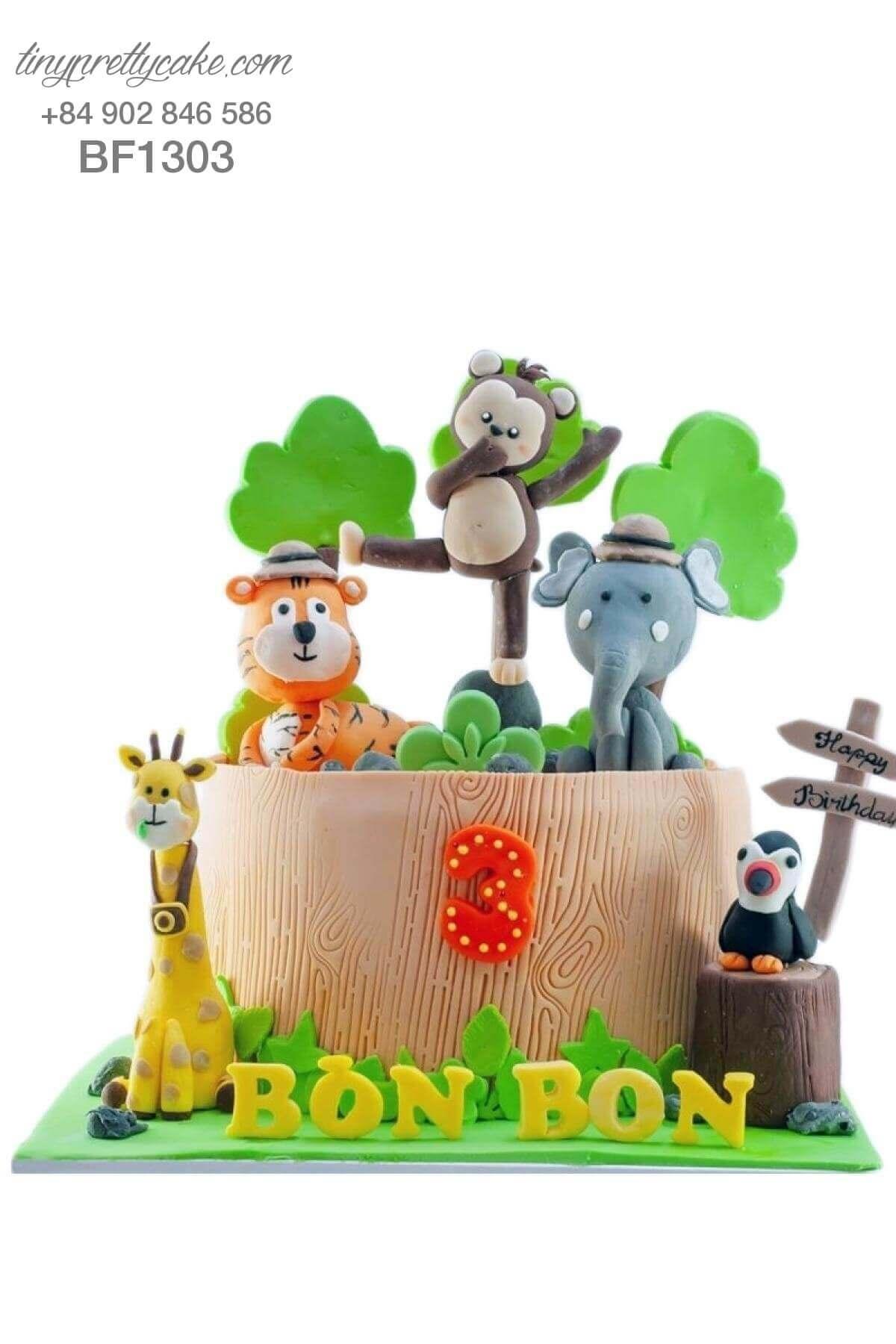 bánh sinh nhật vườn thú