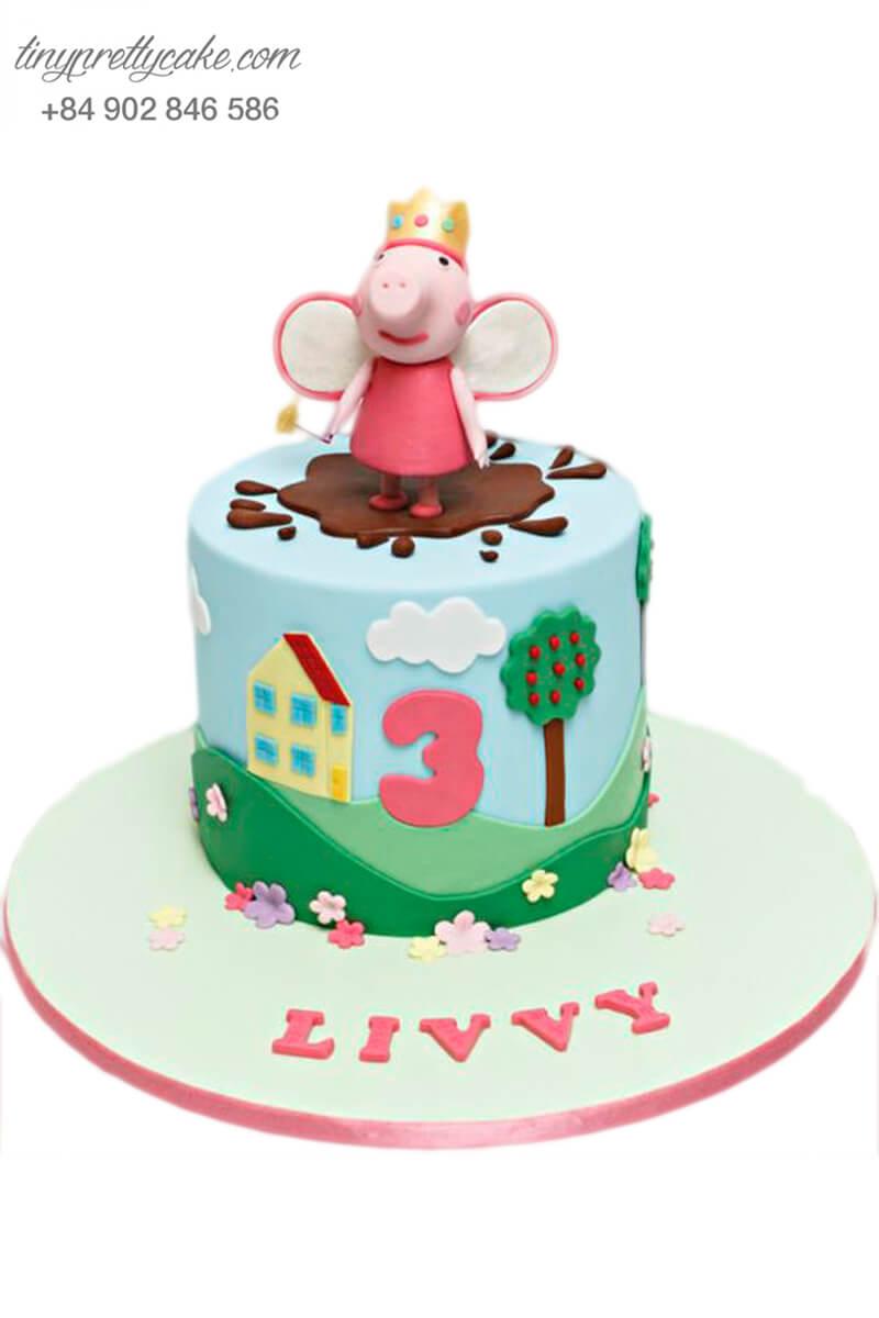 bánh sinh nhật hình công chúa heo Peppa