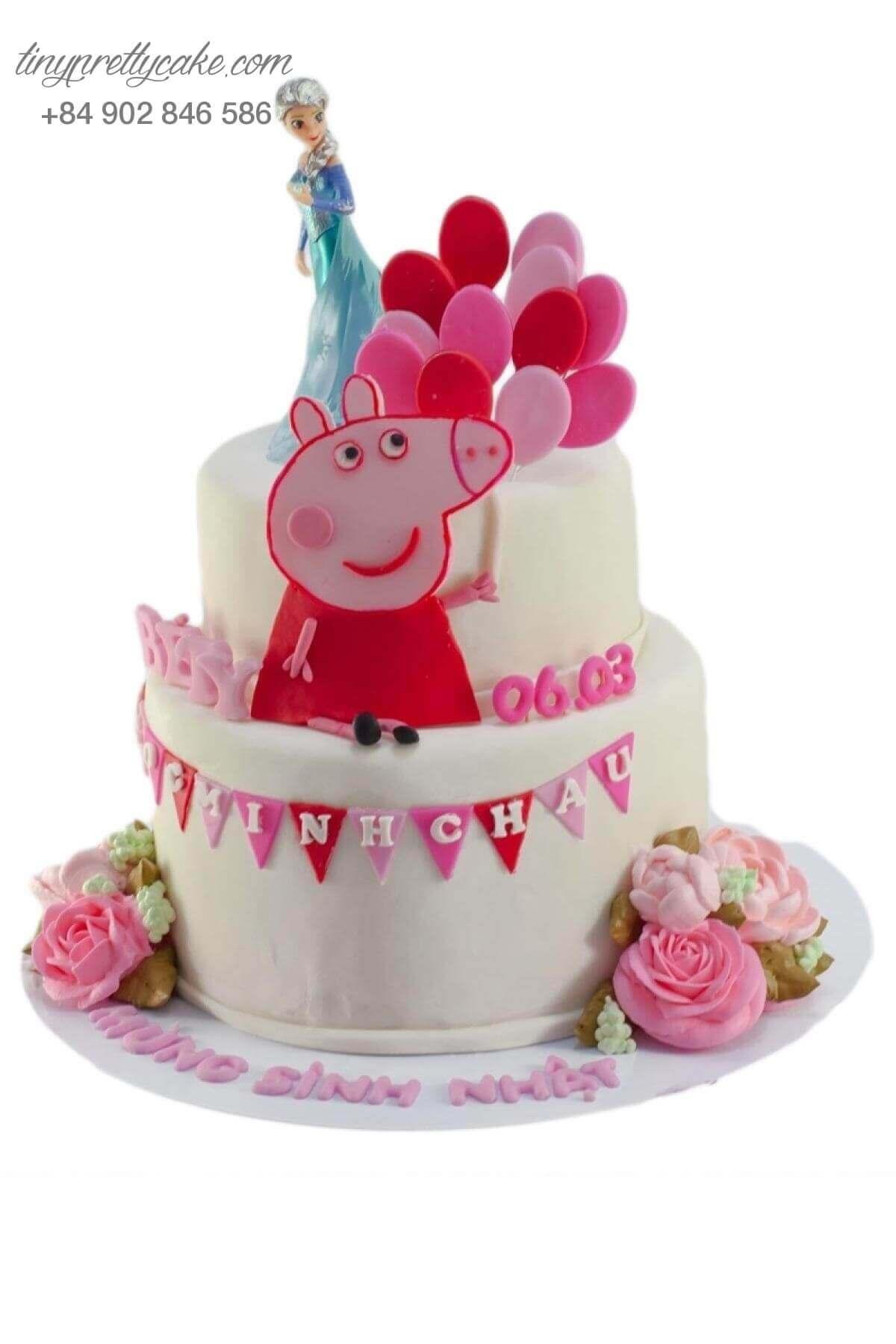 bánh sinh nhật heo Peppa