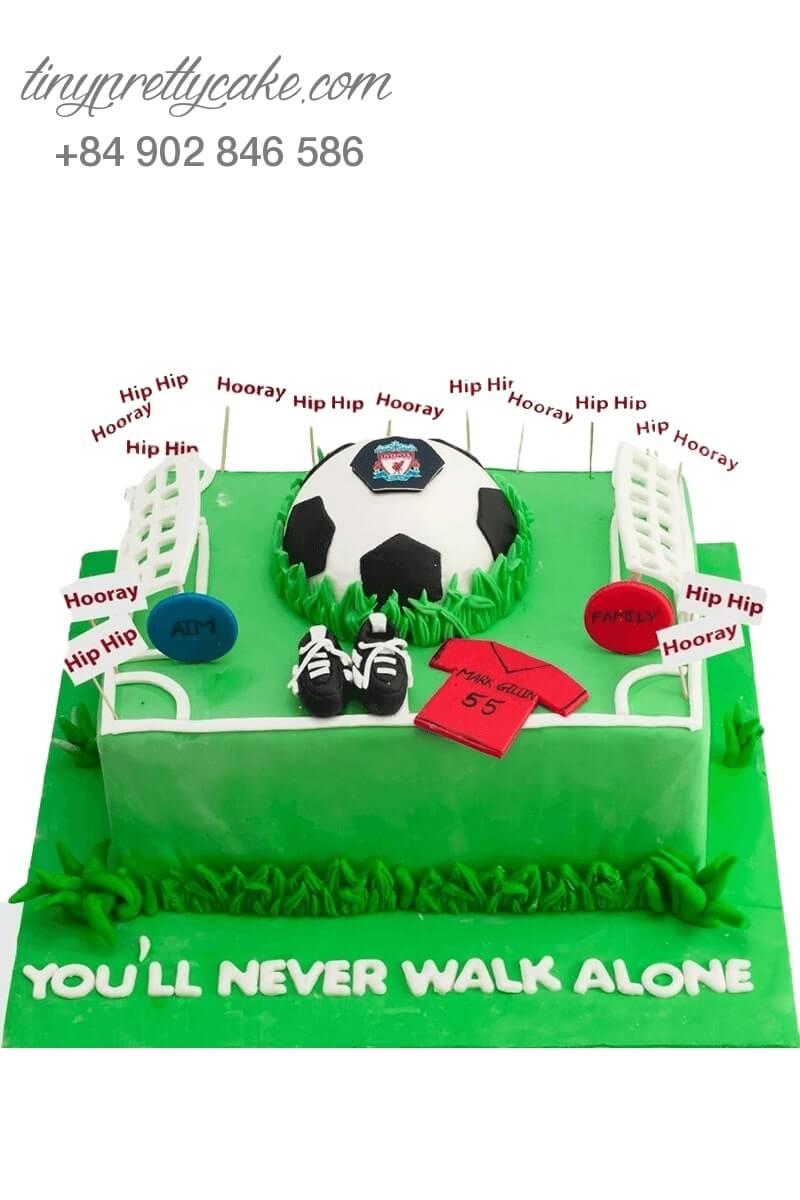 bánh sinh nhật bóng đá cho cầu thủ
