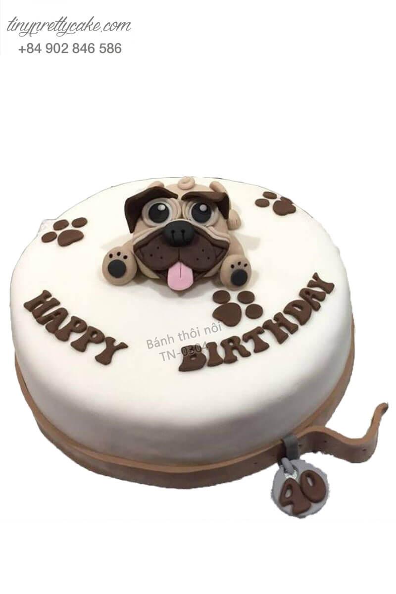 bánh kem chó Pug