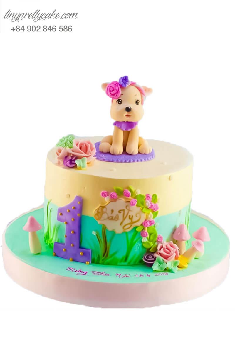 bánh sinh nhật con chó đáng yêu