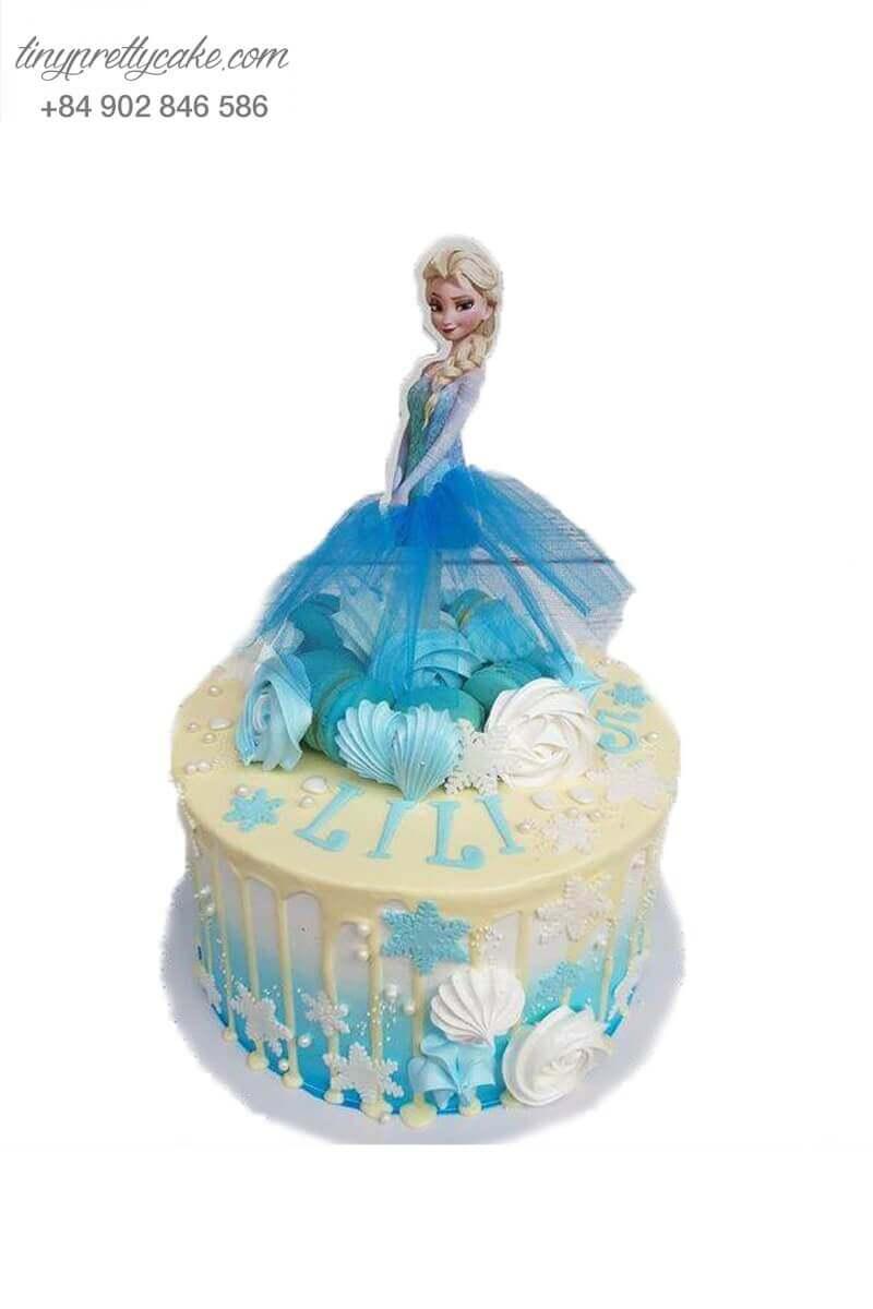 bánh kem công chúa Elsa băng giá