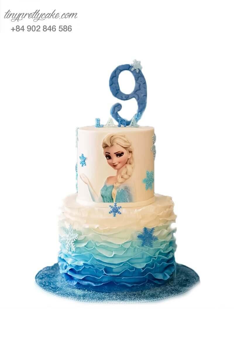 bánh sinh nhật 2 tầng Elsa