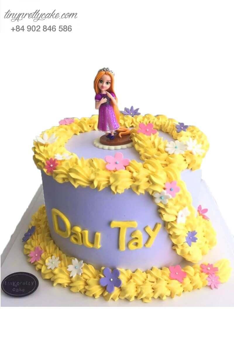 bánh kem công chúa Rapunzel