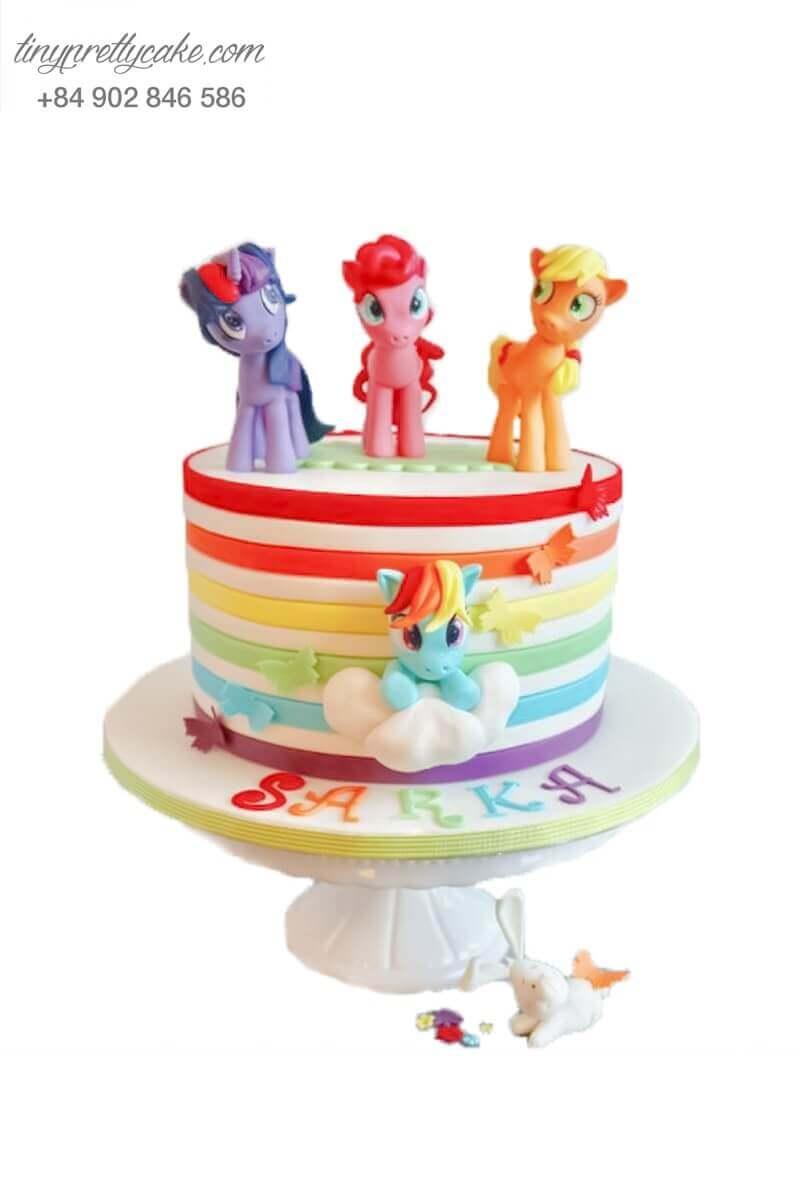 bánh sinh nhật Unicorn sắc màu