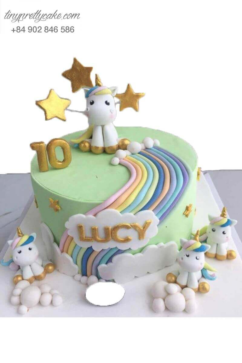 bánh sinh nhật Unicorn dễ thương