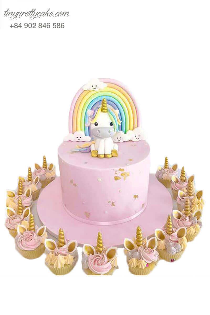 bánh kem Unicorn dễ thương