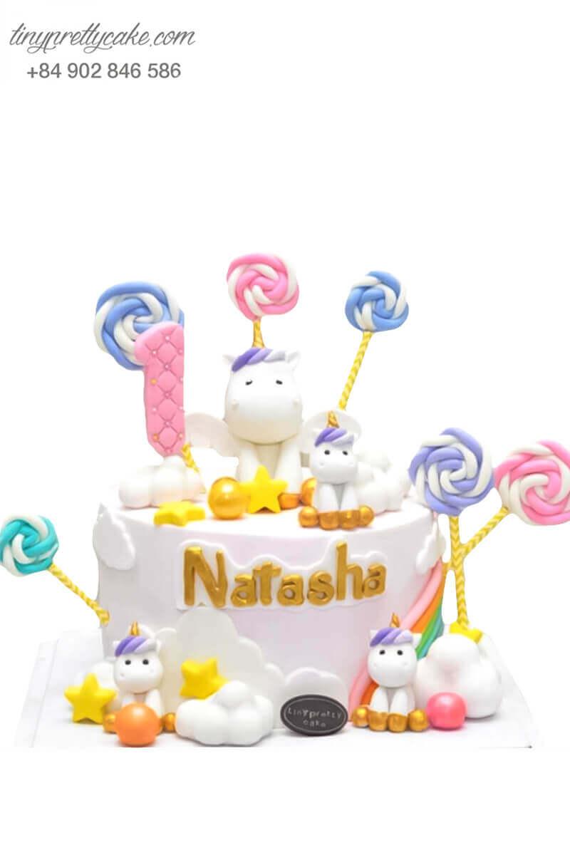 bánh sinh nhật Unicorn kẹo ngọt