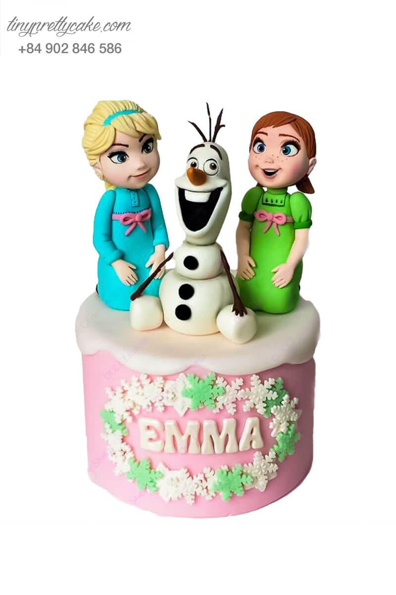 bánh sinh nhật chị em Elsa