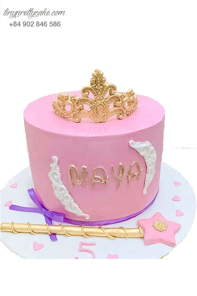 bánh kem vương miện công chúa