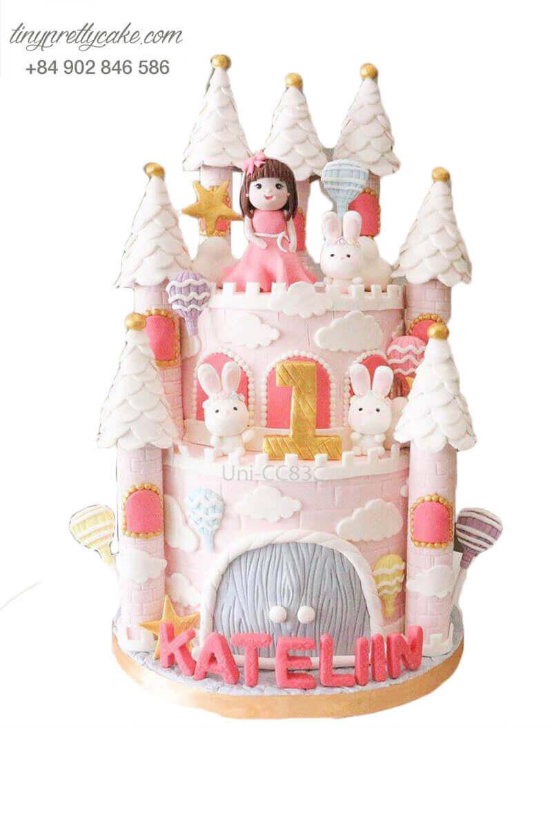 bánh sinh nhật công chúa và thỏ