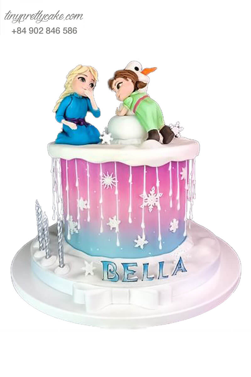 bánh sinh nhật Elsa dễ thương