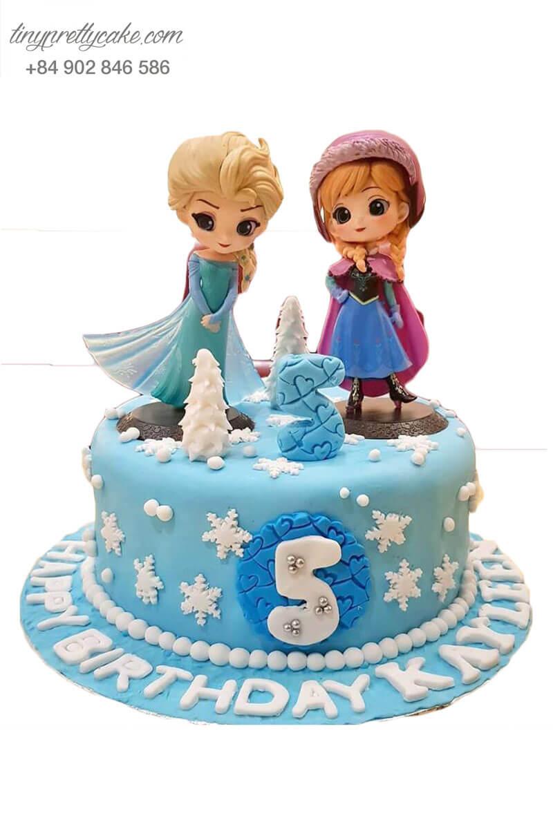 bánh sinh nhật công chúa Elsa và Anna