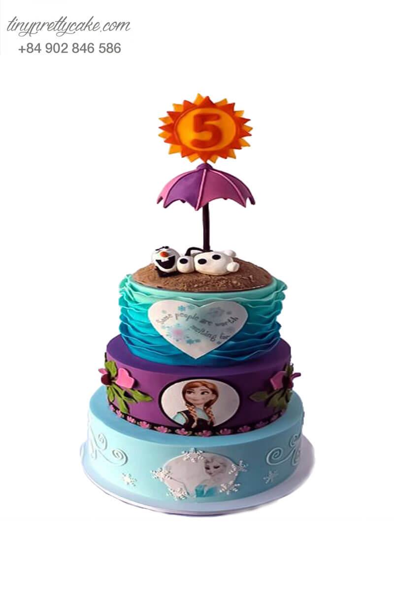 bánh sinh nhật 3 tầng Elsa