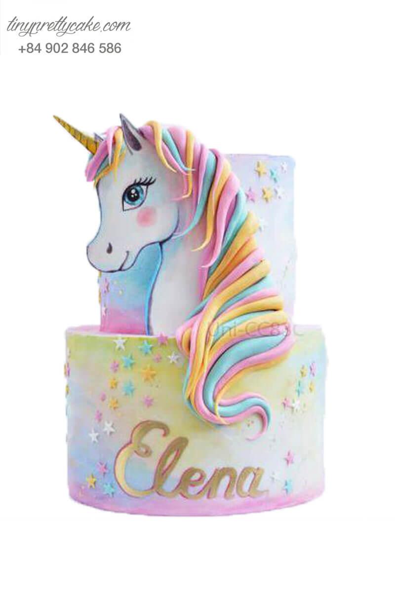 bánh kem Unicorn điệu đà