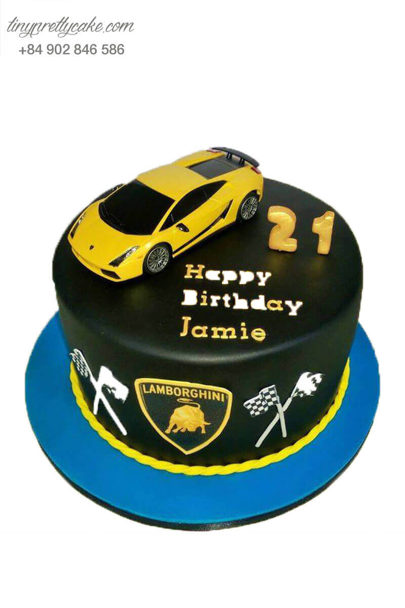Bánh sinh nhật hình xe lamborghini