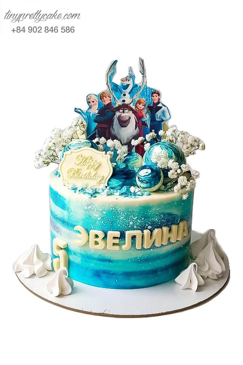 bánh sinh nhật hoạt hình Elsa