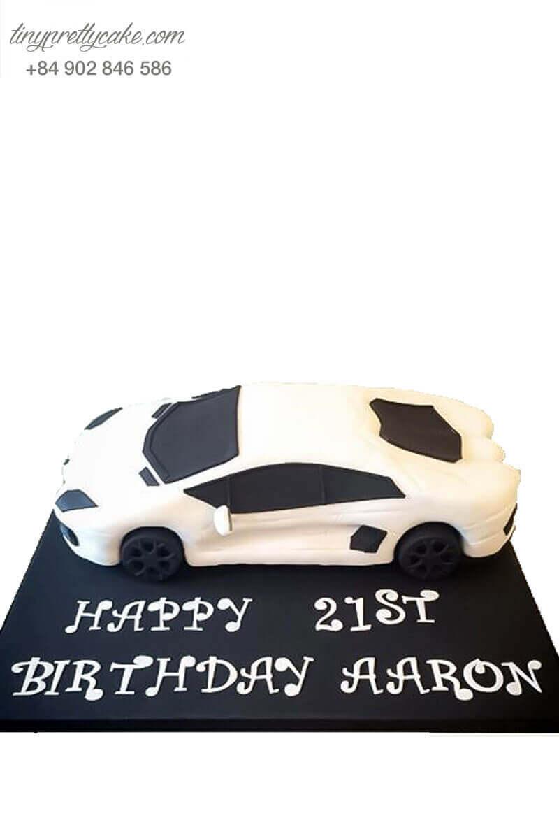 bánh sinh nhật hình xe lamborghini độc đáo