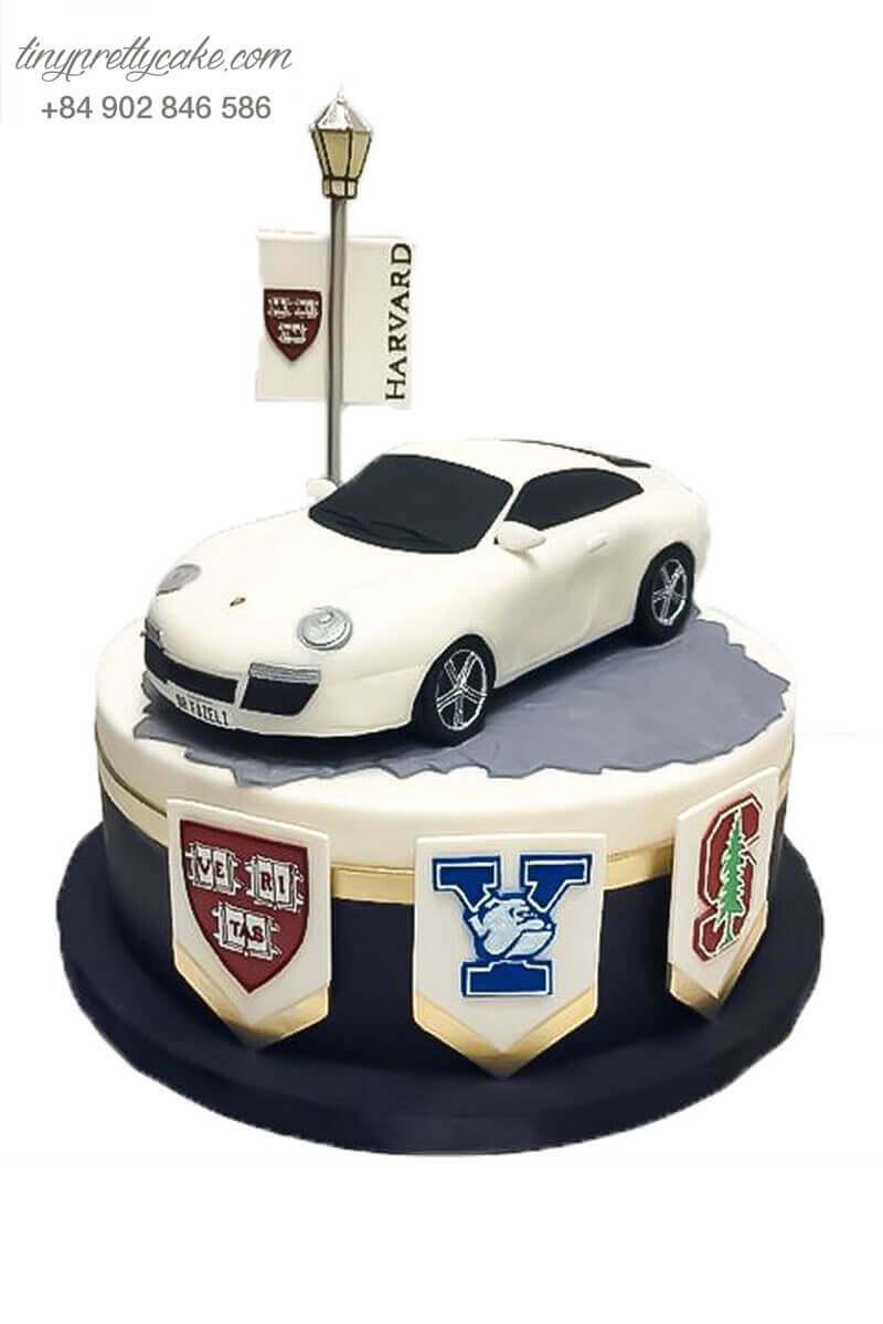 bánh sinh nhật hình xe Lamborghini nghệ thuật
