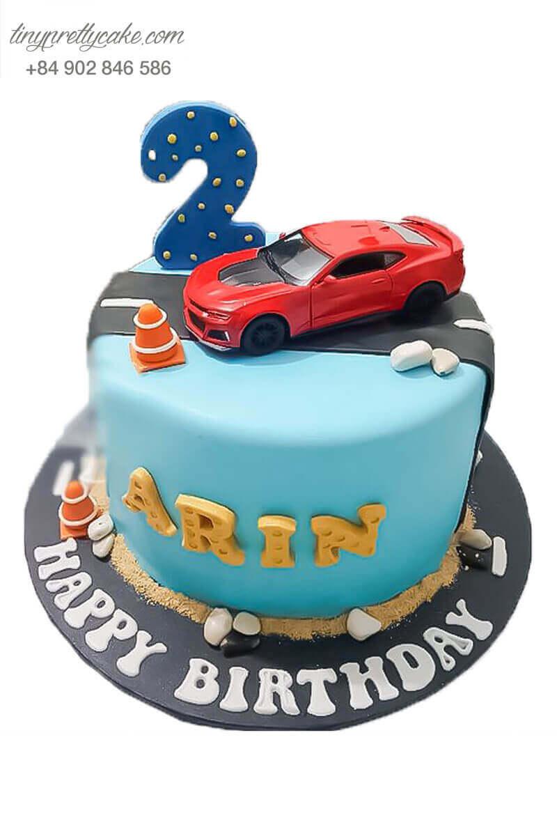 bánh sinh nhật ô tô mcqueen đẹp